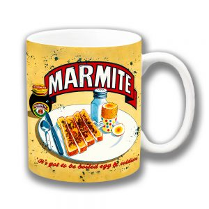 Marmite Coffee Mug Vintage Retro Boiled Egg Soldiers