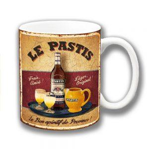 Le Pastis Coffee Mug Vintage Retro Aperitif Provence Mottled