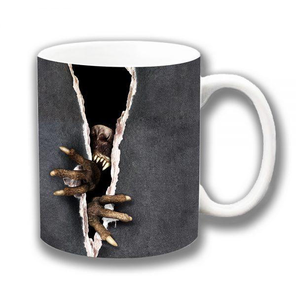 Scary Animal Coffee Mug Teeth Claws Nose Ceramic