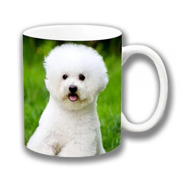 Bichon Frise Dog Coffee Mug Outdoors Garden Ceramic