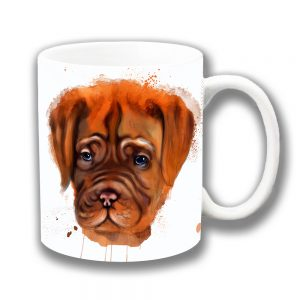 Boxer Dog Coffee Mug Artistic Modern White Ceramic