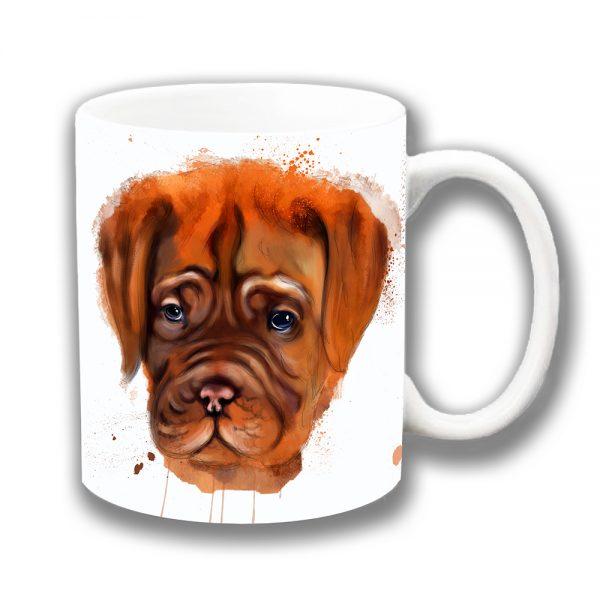 Boxer Dog Coffee Mug Artistic Modern White Ceramic