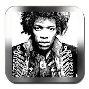 Jimi Hendrix Coaster American Singer Musician Songwriter