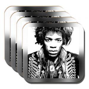 Jimi Hendrix Coaster American Singer Musician Songwriter - Set of 4