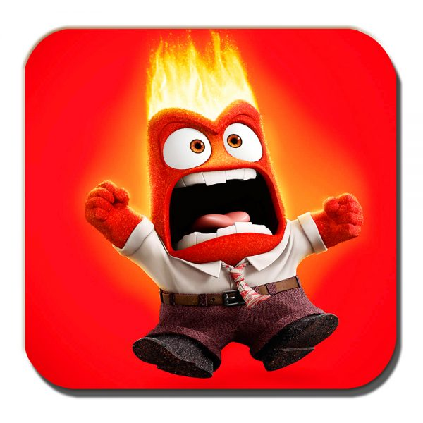 Anger Coaster Inside Out Cartoon Film Character Red