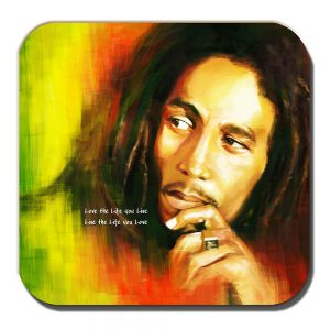 Bob Marley Coaster Jamaican Singer Musician Live Life You Love