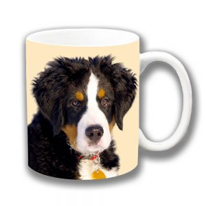 Bernese Mountain Dog Coffee Mug Puppy Black Tan White