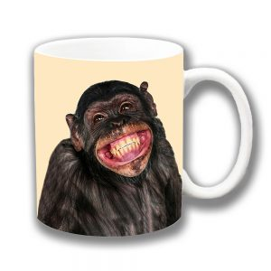 Chimpanzee Coffee Mug Funny Chimp Smiling Ceramic