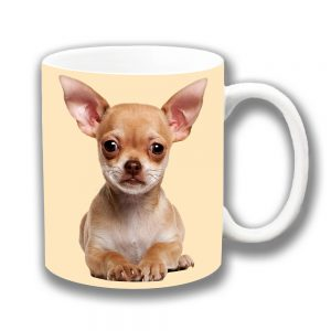 Chihuahua Coffee Mug Fawn Puppy Dog Cream Ceramic
