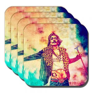 Salvadore Dali Coaster Fab Ciraolo Artist Vampire Weekend - Set of 4
