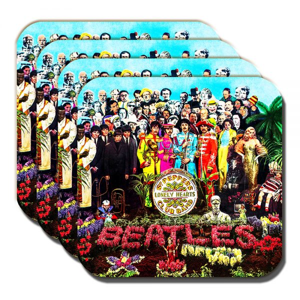 The Beatles Coaster Sergeant Pepper's Lonely Hearts Club Band Album - Set of 4
