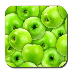 Apples Coaster Green Eating Fruit Fresh Healthy Food Fitness