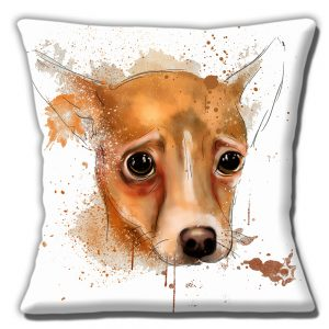 Fawn Chihuahua Dog Cushion or Cushion Cover Artistic Modern