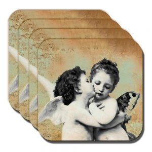 Cherub Coaster Renaissance Art Cherubim Angels - Set of 4