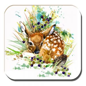 Fawn Coaster Artistic Modern Song Thrush White