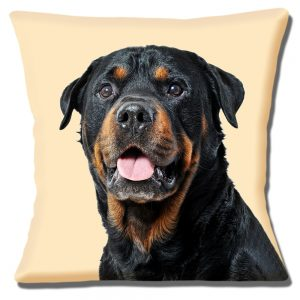 Rottweiler Dog Cushion or Cushion Cover Black Tan Cream