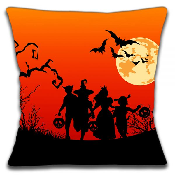 Halloween Cushion or Cushion Cover Witches Bats Pumpkins